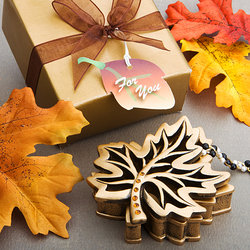 Autumn Allure Collection Fall Leaf Box Favor