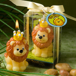 Adorable King of the Jungle Candle Favor