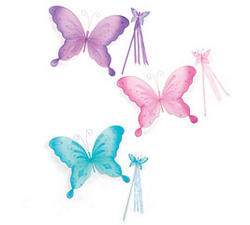 Butterfly Wings & Wand Set - Colors!