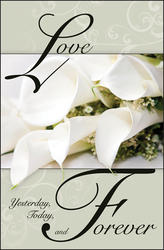 Love Calla Lily Blank Wedding Programs - Pkg 100
