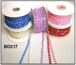 25 Yards Heart Shape Beads - 3 Colors