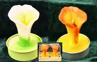 Calla Lily Candle - Pkg 2 - Orange or White!