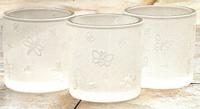 Butterfly or Dragonfly Frosted Votive Candle Cups