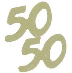 50 Gold Number Metallic Confetti