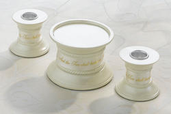3 Piece Candle Holder Set - White or Ivory