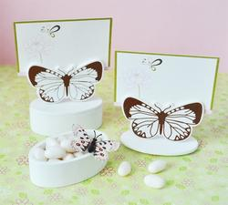 Butterfly Place Card Favor Boxes with Designer Place Cards (set of 12)