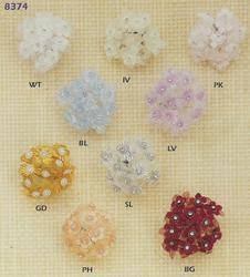 144 Rhinestone Accent Favor Flowers - 5 Colors!