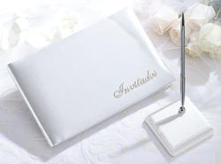 Invitados Guest Book with Pen Set