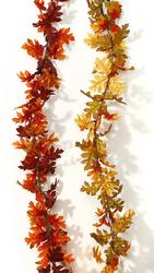 6' Glittered Oak Leaf Garland - 2 Color Choices!