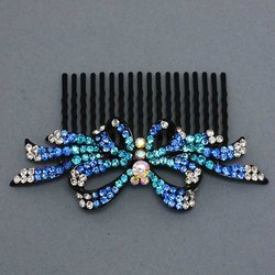 Butterfly & Ribbons Hair Comb - 5 Colors!