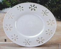 7 Laser Cut Snowflake Design Candle Plate