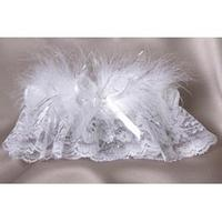 Allure White Garter - Silver or Gold Accents!