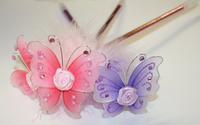 Butterfly Feather & Rose Pen - Colors!
