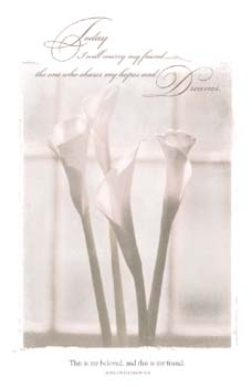 Marry My Friend Calla Lily Wedding Program Pkg 100