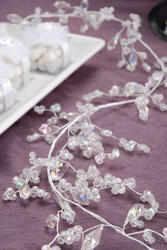 6' Faceted Irridescent Mixed Bead Cluster Garland