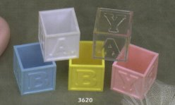 1.75 Fillable Baby Blocks - 5 Colors