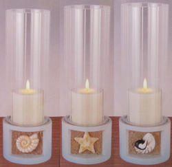 13 Beach Theme Hurricane Candle Centerpiece