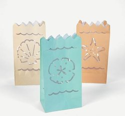 Beach Theme Luminary Bags - Pkg 12