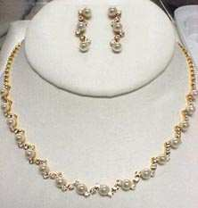 Best in Show Rhinestone & Pearls Set - Gold or Silver!