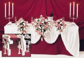 Floral Wedding Bouquet Table Display Clamp
