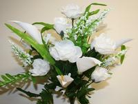 Calla Lily & Rose Bouquet - White or Lavender