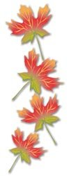 3-D Maple Leaf Stickers