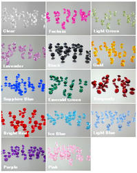 2000 6.5mm Acrylic Diamond Confetti - 14 Colors!