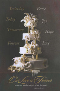 Calla Lily Cake Blank Wedding Programs - Pkg 100