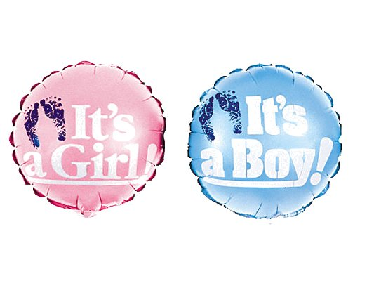 18 Inch ITS A BOY or ITS A GIRL Mylar Balloons