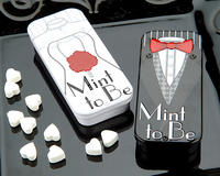 Mint to Be Bride Slide Mint Tins with Heart Mints
