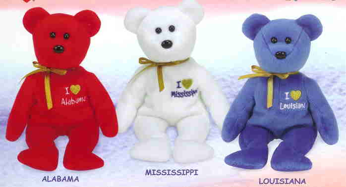 71fd77f8044 Ty Beanie Baby Set of THREE - MISSISSIPPI