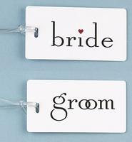 Bride or Groom Luggage Tag!