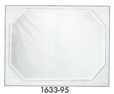 12 x 18 Octagon Placemat Mirror w/Bevel