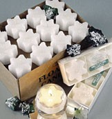 2 Snowflake Floating Candle - White