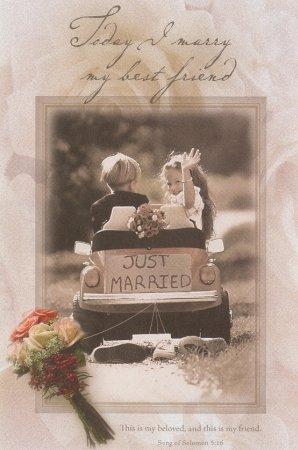 Kids in Car Today I Marry My Best Friend Wedding Programs Pkg 100