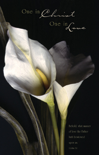 One In Christ Love Calla Lily Blank Wedding Programs Pkg 100