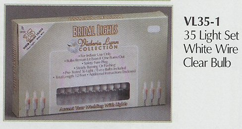 35 Light Set White Wire Clear Bulb