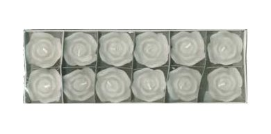 12 Mini Rose Floating Candles - 7 Colors!