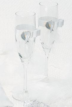 Wings of Love Toasting Flutes