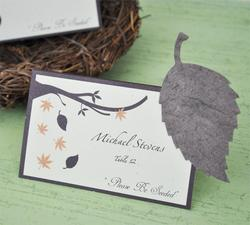 Please Be Seeded Leaf Plantable Seed Place Cards - Pkg 12