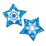 20 Blue Star Snowflake Design Mylar