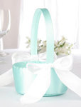 Stylish Aqua Flower Girl Basket