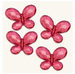 Acrylic Butterfly Decorations - Colors - Pkg 17