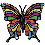 30 Stained Glass Look Butterfly Balloon
