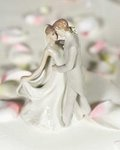 Elegant Porcelain Wedding First Kiss Bride and Groom