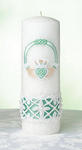 Irish Claddagh Wedding Unity Pillar Candle