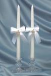 Pave Heart Taper Candles - White or Ivory