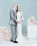 Elegant Porcelain Wedding Bride and Groom