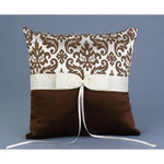 Mocha Enchanted Evening Ring Pillow