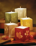 4 Glowing Leaf Cube Candle - 6 Color Choices!